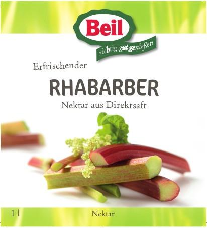 Beil Rhabarber-Nektar 6x1,0l