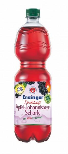 Ensinger Direktsaft Apfel-Johannisbeer-Schorle 9x1,0l PET