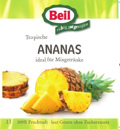 Beil Ananassaft 6x1l