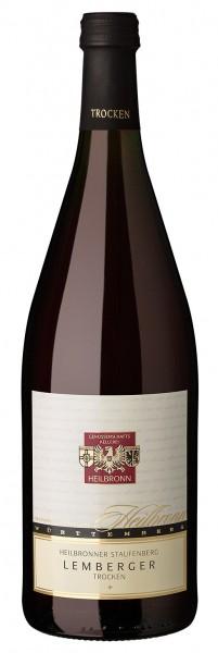 Heilbronner Staufenberg Lemberger Qualitätswein trocken 1l