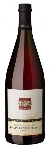 Heilbronner Staufenberg Trollinger mit Lemberger Qualitätswein trocken 1l