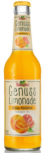Teinacher Genuss-Limonade Orange-Mandarine 12x0,33l