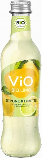 Vio Bio Limo Zitrone Limette 24x0,33l MW Glas