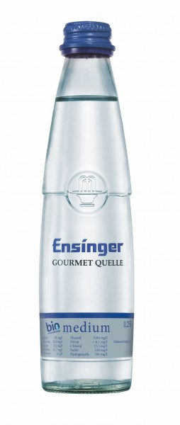 Ensinger Gourmet Bio-Mineralwasser Medium 24x0,25l