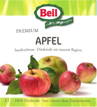 Beil Apfelsaft Klar 100 % Direktsaft 12x0,2l