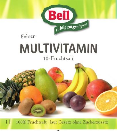 Beil Multi-Vitamin 10 Frucht 6x1l