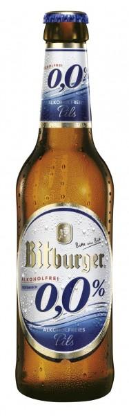 Bitburger 0,0% Alkoholfreies Pils 24x0,33l