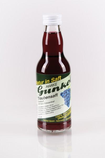 Gunkel Traubensaft rot Direktsaft, nicht aus Konzentrat 12x0,2l