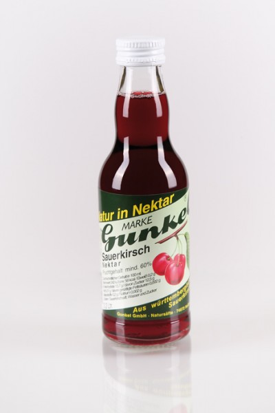 Gunkel Sauerkirsch-Nektar Fruchtgehalt mind. 60% 12x0,2l